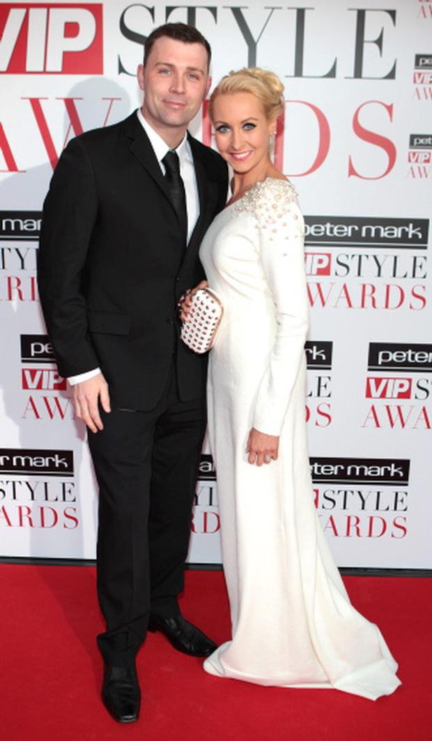 Liam Cronin and Emma O'Driscoll arrive at the Peter Mark VIP Style Awards at the Marker Hotel Dublin. Picture: Brian McEvoy