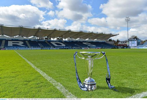 The Amlin Challenge Cup at the RDS. Picture credit: Sportsfile