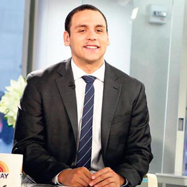 POTTY MOUTH: News anchor A J Clemente swore live on air