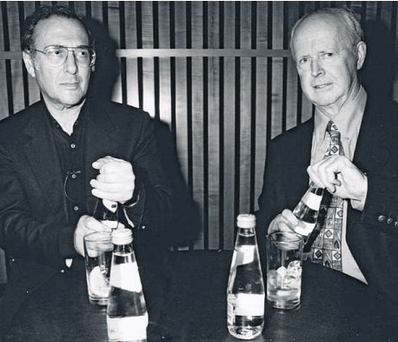 Pause for thought: Harold Pinter with Ciaran Carty and, inset right, Carty's new book Intimacy With Strangers: A Life of Brief Encounters