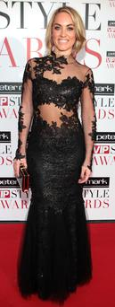 Kathryn Thomas arrives at the Peter Mark VIP Style Awards at the Marker Hotel Dublin. Picture: Brian McEvoy