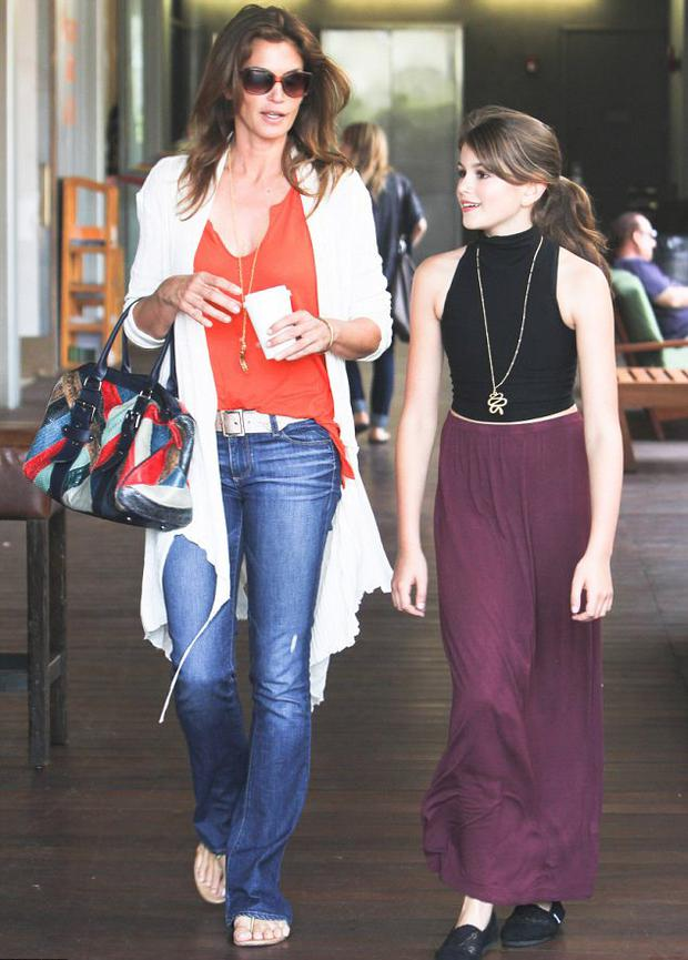 Cindy Crawford and her 11-year-old daughter Kaia