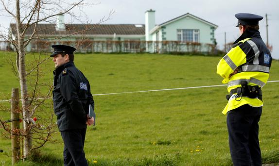 Gardai pictured at a house at Fawnagown near Tipperary Town where a body was found. Photo: Don Moloney/Press 22