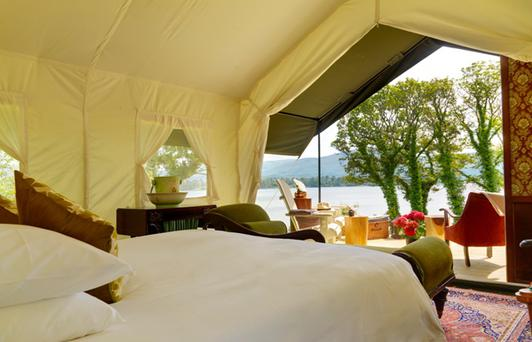 The Brennan brothers sourced the custom-made tents from safari tent experts in India.