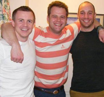 Philip Goodeve-Docker (left), who died after getting into difficulty during a Greenland trek with Roan Hackney (centre) and Andy Norman, his team mates