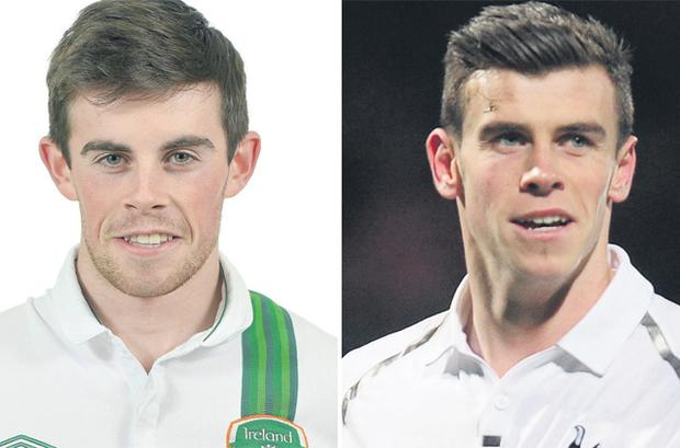 0eec6a2ba Spot the difference  Ireland U-19 international Kenneth McEvoy and Gareth  Bale are both
