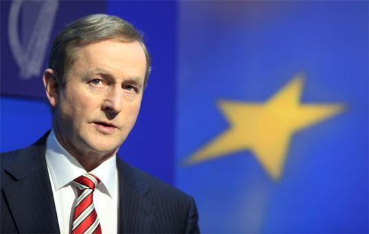 Taoiseach Enda Kenny TD during a media briefing on the Protection of Life in Pregnancy Bill at Government Buildings
