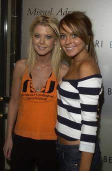 Tara Reid and Lindsay Lohan picture together in 2004.