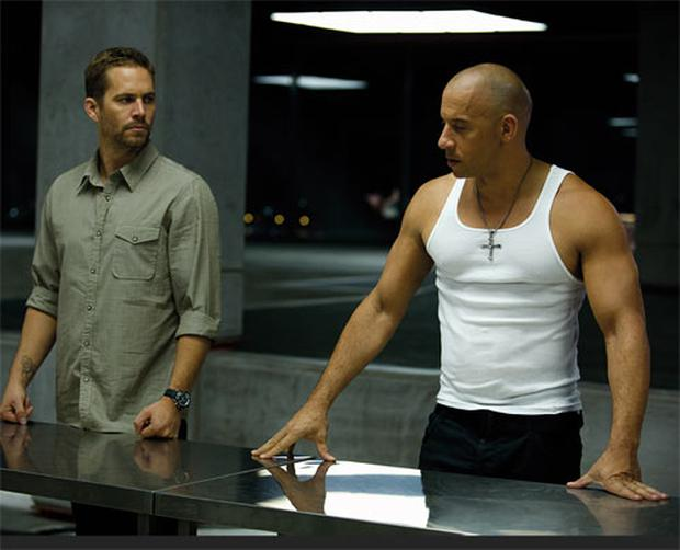 Vin Diesel with Paul Walker in Fast & Furious 6