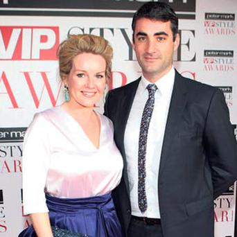 Claire Byrne and fiance Gerry Scollan at the VIP Style Awards recently