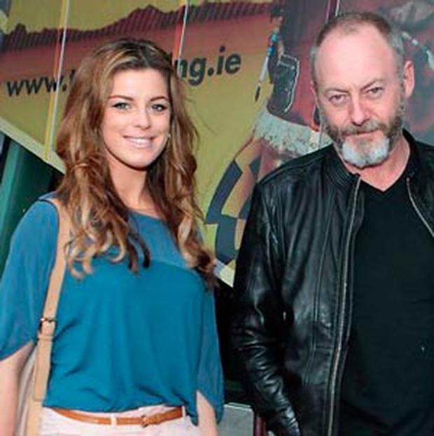 IMPRESSED: Liam Cunningham with Aoibhinn McGinnitty of Love/Hate