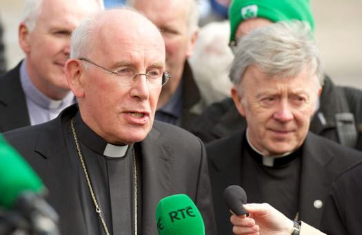 Cardinal Sean Brady at Knock today.