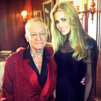 Hugh Hefner and Rosanna Davison