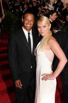 Tiger Woods and Lindsay Vonn attend the Costume Institute Gala for the