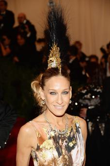 Sarah Jessica Parker sported a gold mohawk crafted by her pal, Irish milliner Philip Treacy.