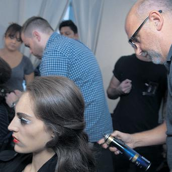 Clean, shiny hair as seen backstage at the Moschino SS13 fashion show. Hair by Pantene