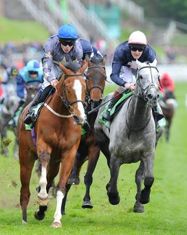 Address Unknown(left) ridden by Jamie Spencer wins The stanjames.com Chester Cup today