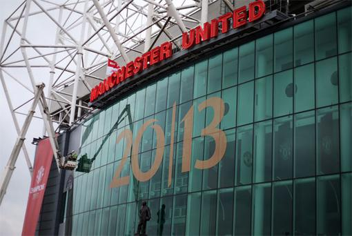 General View of Old Trafford on the day Sir Alex Ferguson announces his retires from management.