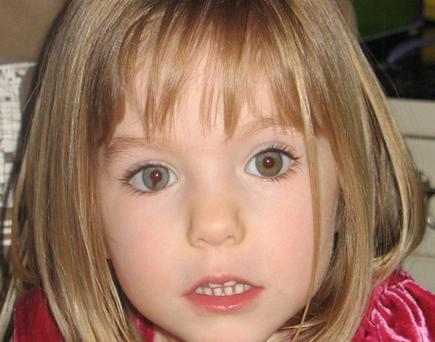 Madeleine McCann. Photo: PA Wire
