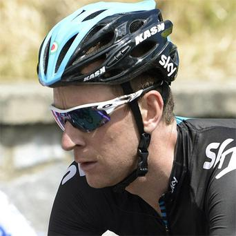 Bradley Wiggins pedals during the fifth stage of the Giro d'Italia, Tour of Italy cycling race