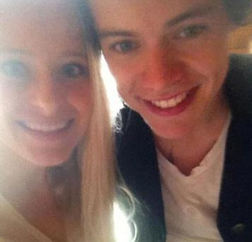 Camilla posted this picture of her and Harry on her Twitter page.