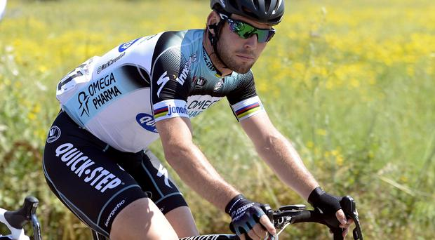 Britain's Mark Cavendish pedals during the sixth stage of the Giro d'Italia, Tour of Italy cycling race, from Mola di Bari to Margherita di Savoia