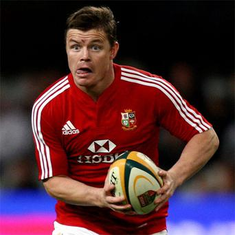 Brian O'Driscoll in action for Lions in 2009