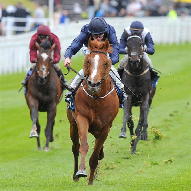 Aidan O'Brien's Derby hope Ruler Of The World gallops clear of his rivals under Ryan Moore to claim the spoils in yesterday's Chester Vase