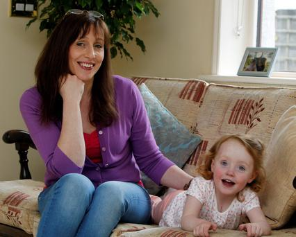 Jennifer Kehoe with her daughter Louise (3) at home in Naas