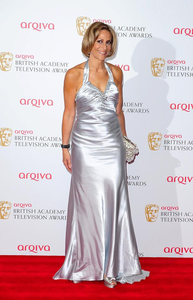 Emily Maitlis at the 2013 Arqiva British Academy Television Awards at the Royal Festival Hall, London.