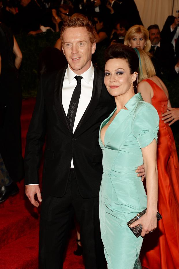Damian Lewis and his wife Helen McCrory attend the Costume Institute Gala for the
