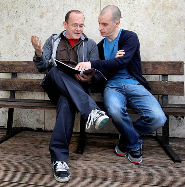 Tom Vaughan-Lawlor, right, and director Mark O'Rowe