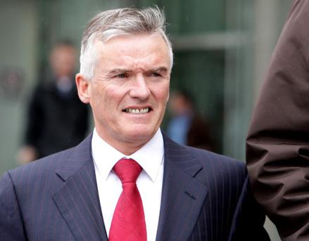 Ivor Callely leaving court today. Photo: Courtpix