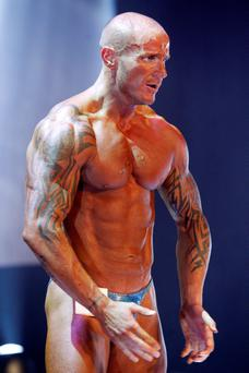Sean Enright during the Mr Ireland Competition in 2011