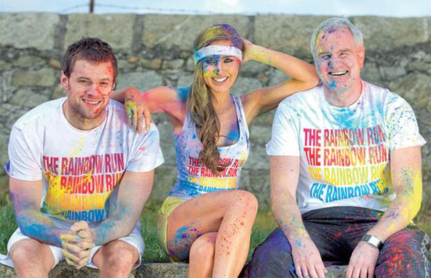 Bressie along with model Roz Purcell, and rugby pundit Brent Pope are among the colourful characters signed up for the Rainbow Run 5k taking place on Sunday, July 28, at noon on Dún Laoghaire's west pier in Co Dublin