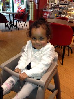 Undated handout photo issued by Thames Valley Police of 20-month-old Sarah Dahane who was found dead at a house in Bicester, Oxfordshire in England