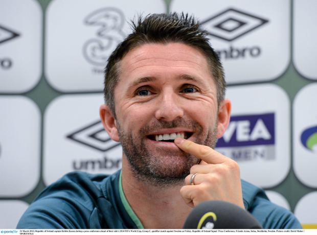 Republic of Ireland captain Robbie Keane during a press conference