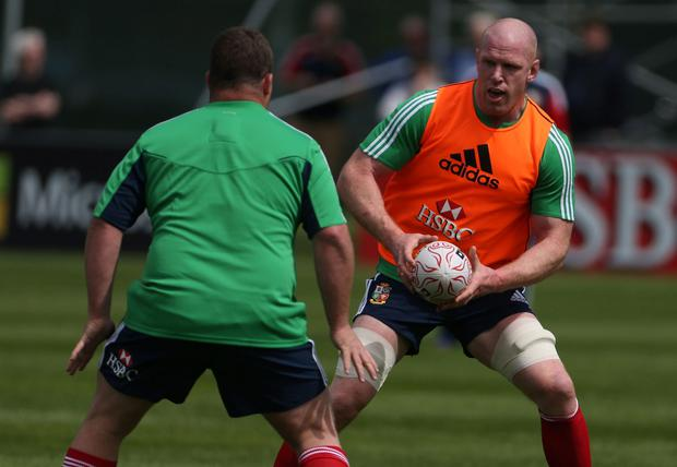 Paul O'Connell during a training session at Carton House, Dublin, Ireland.