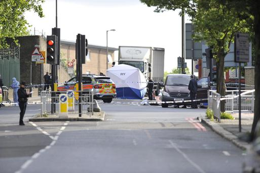 Police activity close to the scene where a man was murdered in John Wilson Street, Woolwich.
