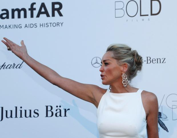 Actress Sharon Stone in Cannes today