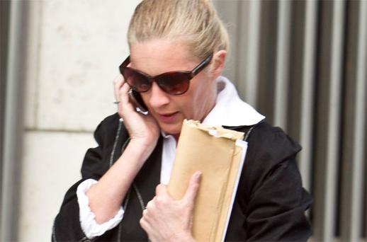 Catherine McGowan pictured leaving court