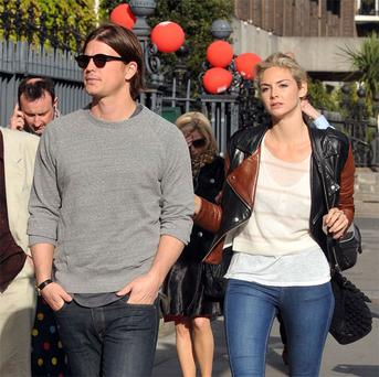 Hollywood actor Josh hartnett paid a visit over to Dublin to see his actress girlfriend Tamsin Egerton,who is starring in Cecelia Aherns new movie 'Love Rosie'.