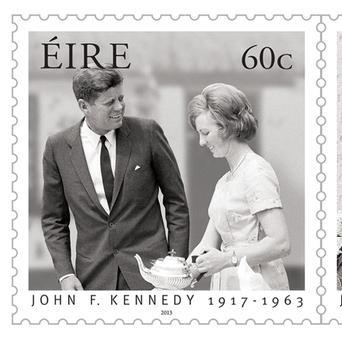 Two new stamps marking the 50th anniversary of President John F Kennedy's historic visit to Ireland.