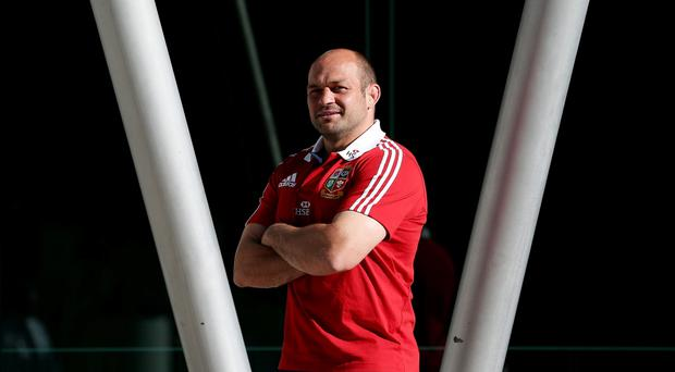 Rory Best poses for a picture during the press conference at the Convention Centre, Perth in Australia.