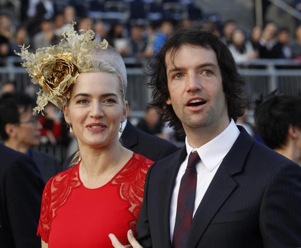 Actress Kate Winslet and her husband Ned Rocknroll