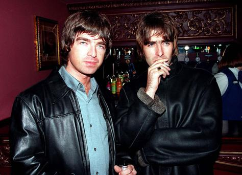 Noel and Liam Gallagher in 1995. Photo: Getty Images
