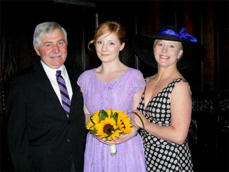 Kate Fitzgerald with her parents Tom and Sally.