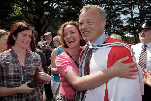 Dr. Graham Norton return to UCC to receive his honorary doctorate