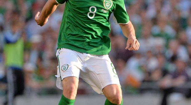 Wes Hoolahan in action against the Faroes