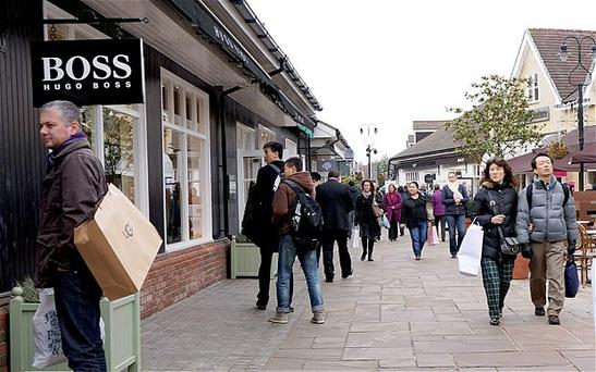 The Hugo Boss store in Bicester Village, England